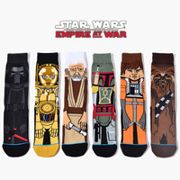 2017 Hot Sale Calcetines Hombre Mens Socks New Arrival Star Wars Patterns Good Quality Cotton Casual Socks Men/women Brand