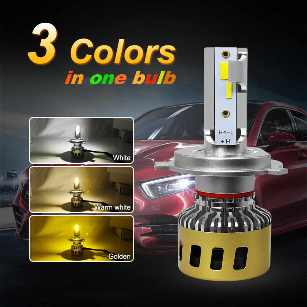INLONG H4 LED Headlight Bulbs H11 H7 H8 H1 9005 9006 HB4 Tricolor 3000K 4300K 6000K 80W 10000LM Car Led Auto Headlamp Headlight