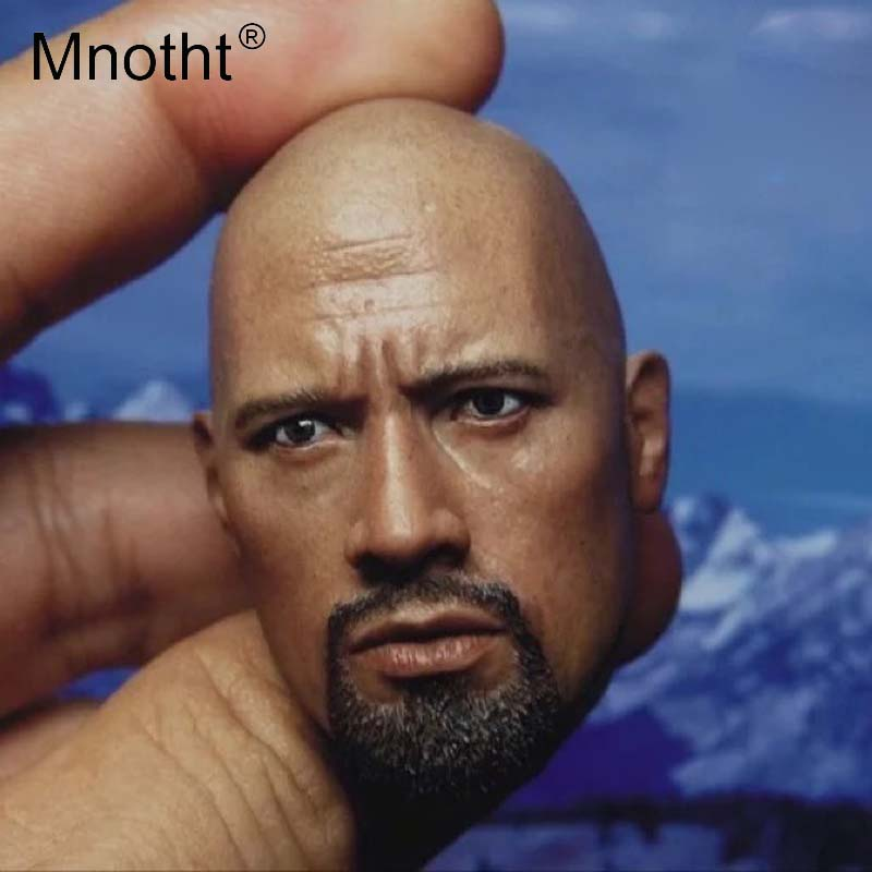1 6 Scale Dwayne Johnson Head Sculpt Model The Fast and the Furious mighty detective Head
