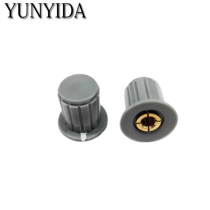 5 pçs cinza WXD3-13-2W potenciômetro botão tampa (núcleo de cobre) frete grátis KYP16-16-4J 4mm