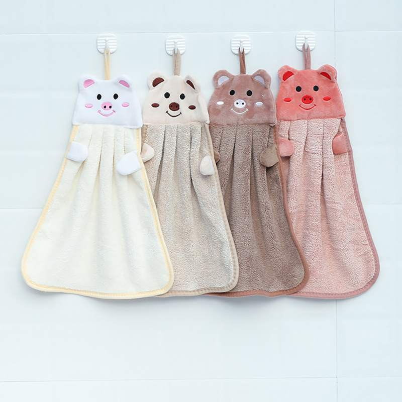 Cute Animal Candy Colors Home Kitchen Cleaning Cloth Absorbent Cleaning Towel Dishwashing Cloth Coral Velvet Cleaning Towel in Hand Towels from Home Garden