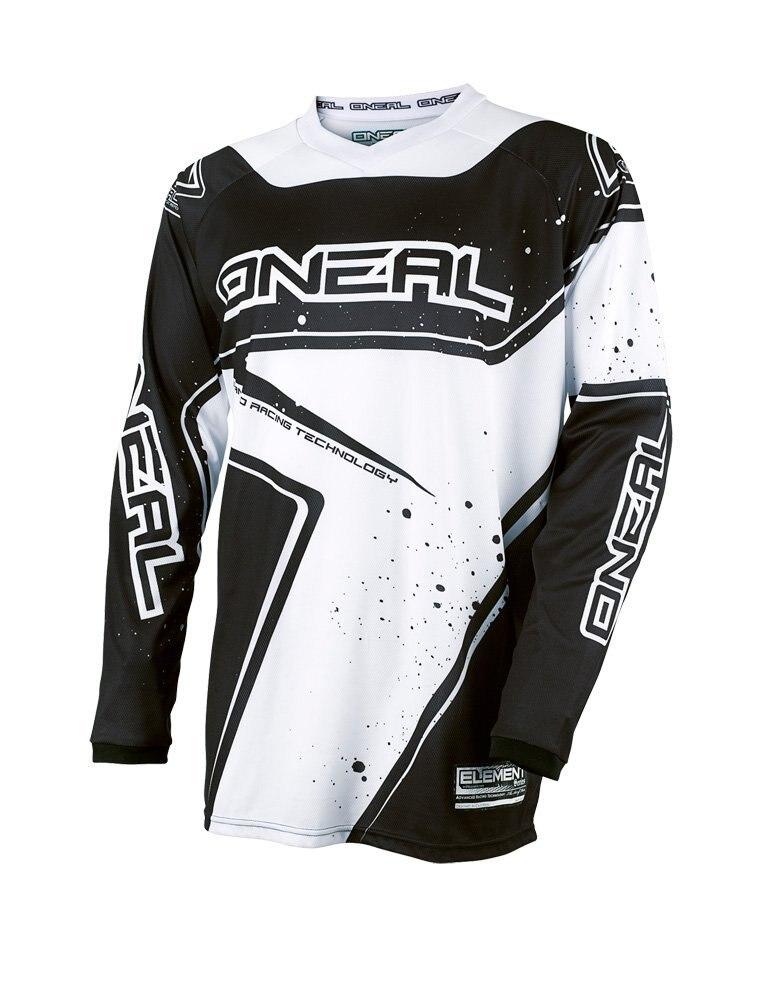 Cycling jerseys motocross elemento racewear jersey (preto/branco, grande) martin mtb mx moto cross motocross shi