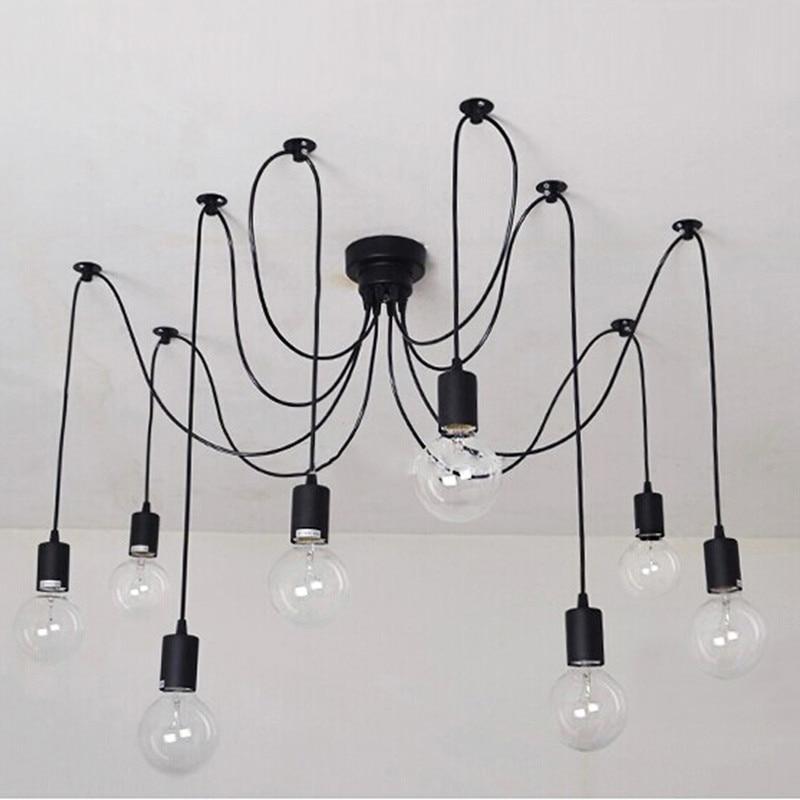 ФОТО 5/6/8/10/12 head retro industrial loft chandelier
