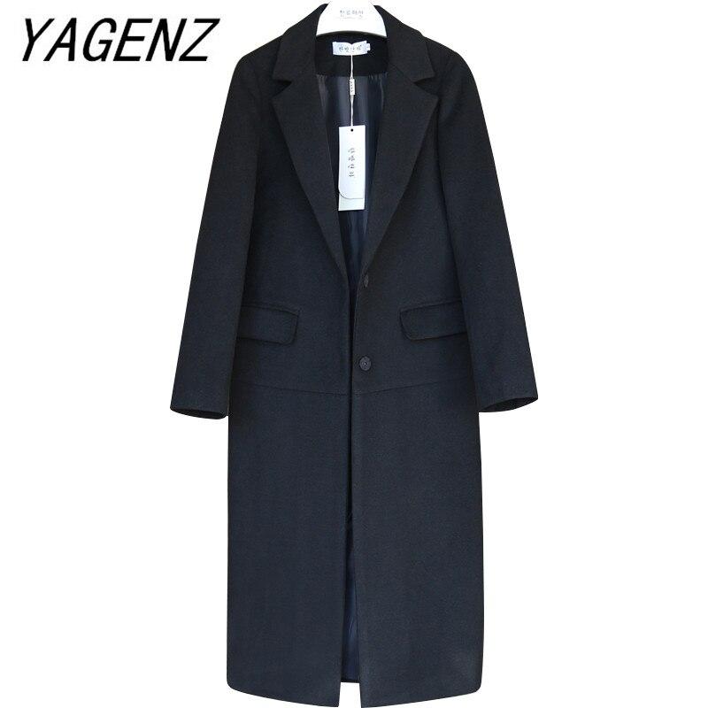 Женская теплая шерстяная куртка, черная или верблюжья брендовая свободная длинная однотонная куртка большого размера 4XL в Корейском стиле для зимы|Пальто|   | АлиЭкспресс