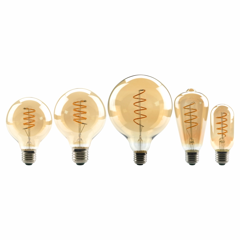 Dimmable Edison Lamp 4W 2200K C35 T45 A60 ST64 G80 G95 G125 Spiral Light LED Filament Bulb Retro Lamp Decorative LightingDimmable Edison Lamp 4W 2200K C35 T45 A60 ST64 G80 G95 G125 Spiral Light LED Filament Bulb Retro Lamp Decorative Lighting