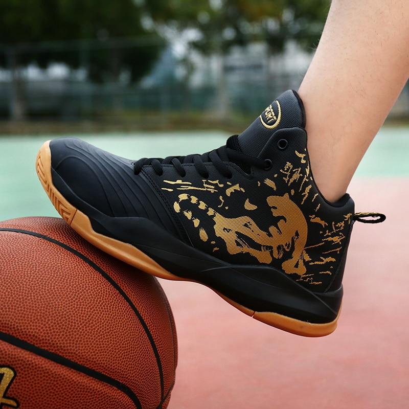 Для мужчин Мужская Баскетбольная обувь Air Damping Для мужчин спортивные кроссовки высокие дышащие кроссовки кожаные туфли Для мужчин открытый ...
