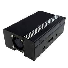For Raspberry Pi 3 and Raspberry Pi 2 Metal Case with Cooling Fan Black(China)