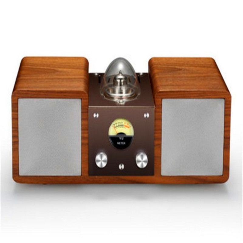 classic 10mm solid wood tube amplifier speaker 30w output  retro design art of music hifi surround support bluetooth and aux inp art of war
