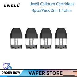 4/8/12 шт оригинальный Uwell калибурн картридж 2 мл 1.4ohm аксессуары для электронных сигарет для Uwell калибурн комплект вэйп картридж