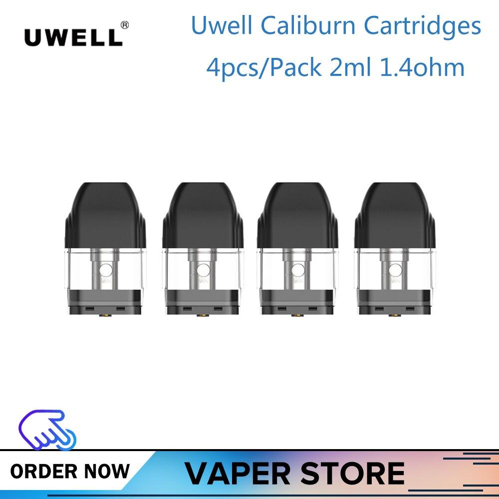 4/8/12 piezas originales cartucho Uwell Caliburn 2ml 1.4ohm accesorios de cigarrillos electrónicos para Uwell Caliburn Kit vape cartucho