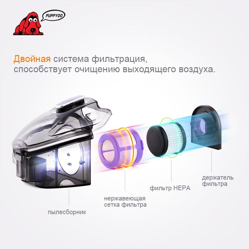 PUPPYOO Mini Matt UV փոշեկուլ տան համար Անվճար - Կենցաղային տեխնիկա - Լուսանկար 5