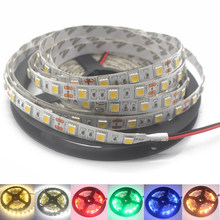 Светодиодная лента 12 в 24 в 5050 SMD 60 светодиодов/м, светильник 5 м 12 в 24 В вольт, Светодиодная лента, светильник SMD5050, без водонепроницаемой ленты,...