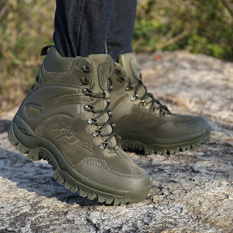 Military Leather Boots for Men Infantry Tactical Ankle Boots <font><b>Askeri</b></font> <font><b>Bot</b></font> Desert Combat <font><b>Bot</b></font> Army Boots <font><b>Erkek</b></font> Ayakkabi Outdoor Shoe image