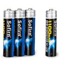 Sofirn AAA batería 1,2 V 1100mAh NI-MH AAA batería recargable y baterías recicladas protección de sobrecarga de células respetuoso con el medio ambiente