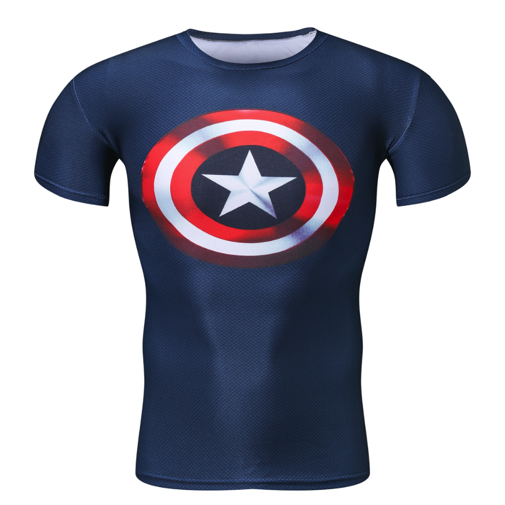 Compressie shirt Superman Captain America Punisher Iron man 3D print - Herenkleding - Foto 1
