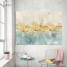 Ba Oil Big Size 100% Handpainted Street Scenery Knife Painting Palette Canvas For Oil Painting Wall Art Home Decoration