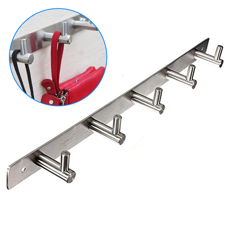 Stainless Steel Bathroom Hooks Coat Hat Clothes Robe Holder Rack Wall Hanger Mount Hook Fg In Rails From Home Garden On Aliexpress Alibaba