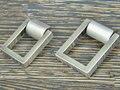 Botões cômoda tração gaveta Knob puxa alças gota anéis de prata de níquel praça armário de cozinha alças decorativa moderna Hardware