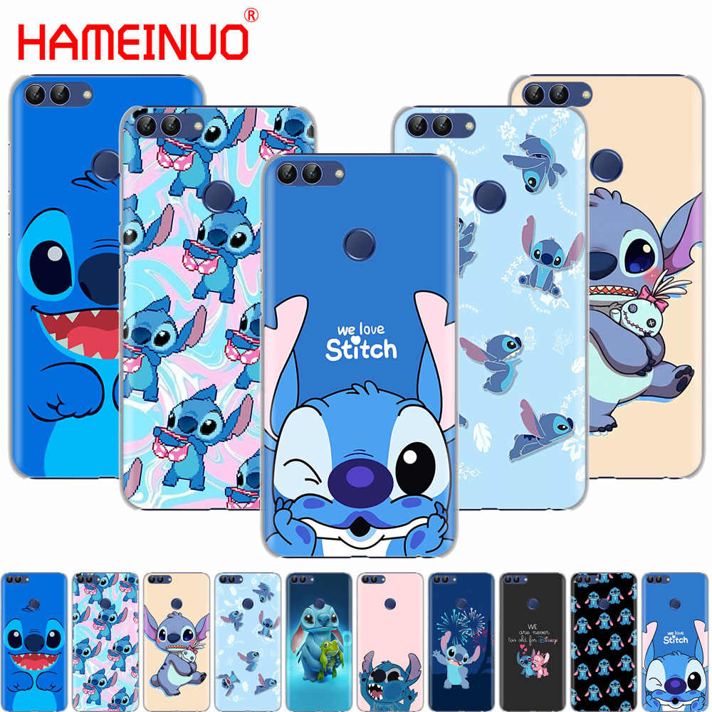 Cute Cartoon Stich cell phone Cover Case for huawei Honor 7C Y5 Y625 Y635 Y6 Y7 Y9 2017 2018 Prime PRO