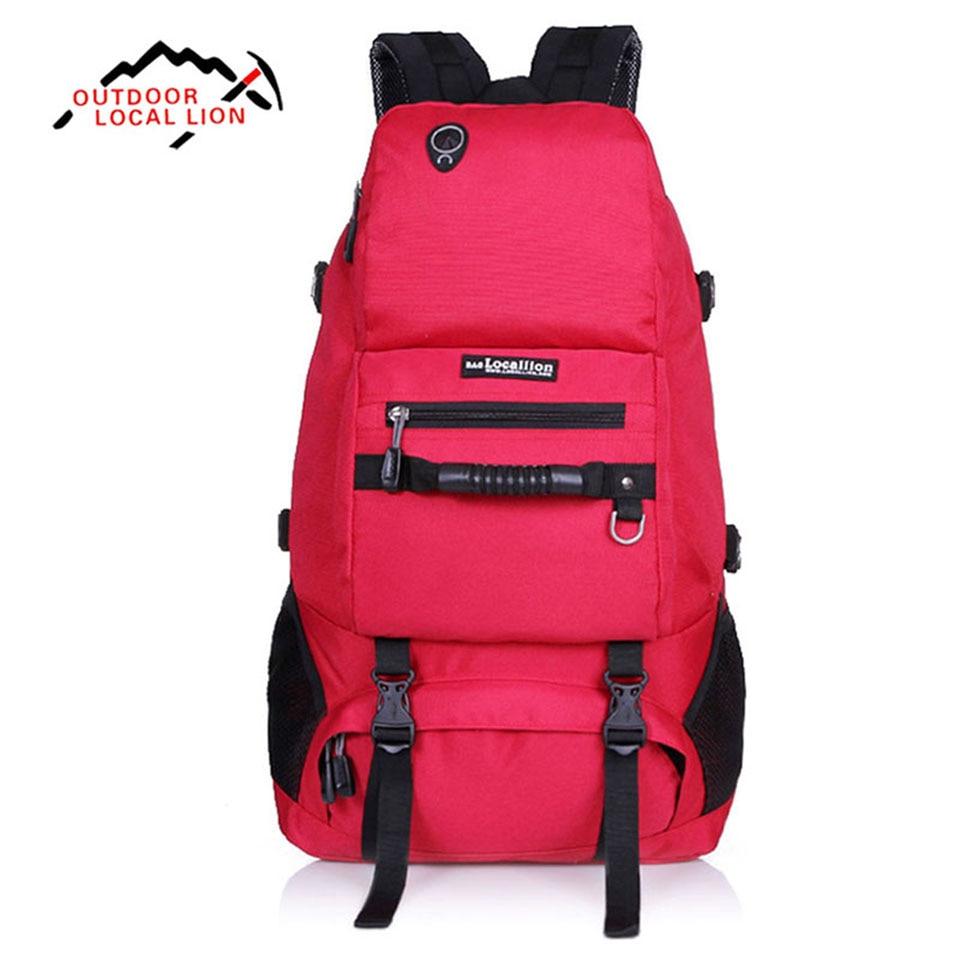 ФОТО Outdoor Sport Bag Nylon Space Backpack LOCAL LION 40L Unisex Waterproof Men Rucksack Bags Women Traveling Knapsack Bag
