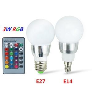 Image 5 - E27 E14 LED הנורה RGB מנורת 110V 220V 3W 5W 10W 15W RGBW RGBWW RGB LED אור הנורה 16 צבעים עם שלט רחוק IR שינה דקור