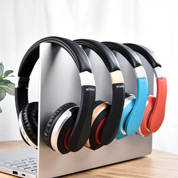 MH7 Bluetooth Wireless Headphones Foldable Stereo Gaming Headset with Microphone Support TF Card for IPad Mobile Phone