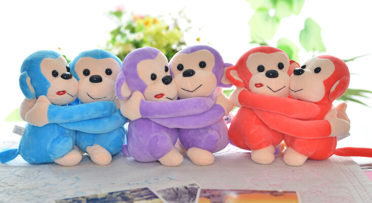 Plush doll 1pair 25cm funny hug couple monkey cute home decoration wedding stuffed toy children baby gift