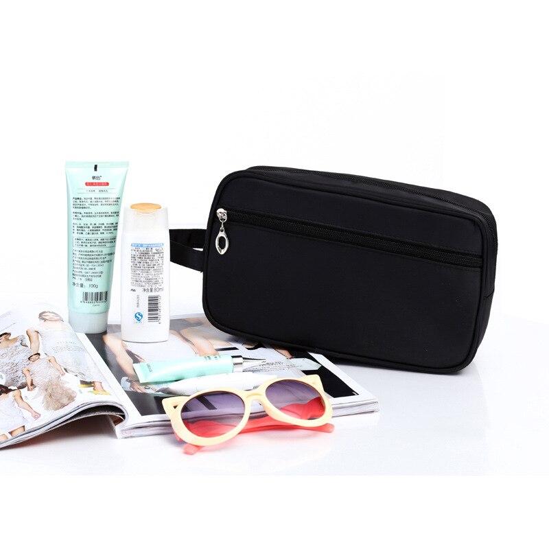 Hhyukimi Brand Waterproof Nylon Men Cosmetic Bag Travel Makeup Storage Package Hygiene Women Personal Wash Organizer In Bags Cases