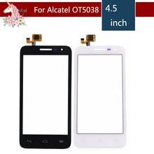 10pcs/lot For Alcatel One Touch POP D5 5038 5038D 5038E 5038X OT5038 Touch Screen Digitizer Sensor Outer Glass Lens Panel alcatel one touch pop d5 5038d white