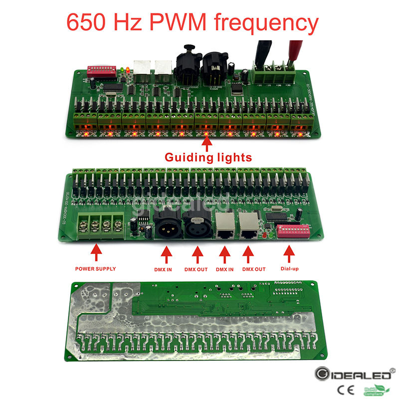 30-канален DMX декодер с XLR задействащ LED - Аксесоари за осветление - Снимка 2