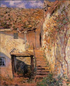 High quality Oil painting Canvas Reproductions The Steps (1878) By Claude Monet hand painted