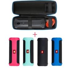 2 in 1 Hard EVA Carry Zipper Storage Box Bag+Soft Silicone Case Cover For JBL Flip 4 flip4 Bluetooth Speaker For jbl flip 4 case