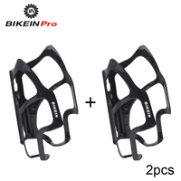BIKEIN 2 Pcs Road Bicycle 3k Carbon Water Bottle Holder Mountain Bike Water Bottle Cage Glossy