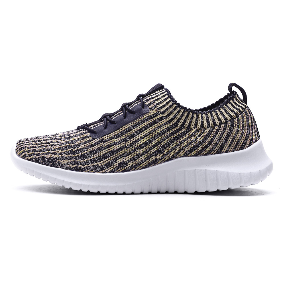 TIOSEBON Casual Sports Knit Workout Sneakers Soft Bottom Lace Up Shallow Lightweight Walking Shoes Walking Outwear Flats Shoes