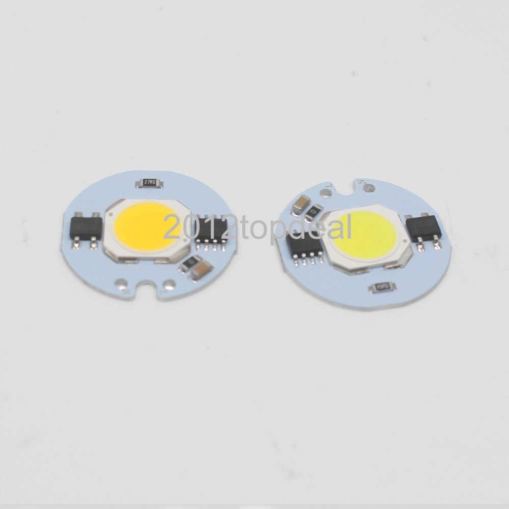 Lámpara Led CoB Chip 3 W 5 W 7 W 9 W 20 W 30 W 50 W bombilla de luz 220 V IP65 inteligente IC blanco cálido para reflector LED