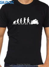 Good Quality Brand Cotton Shirt Summer Style Cool  Short Graphic Biker Evolution Rider Motorcycle Mens Tees