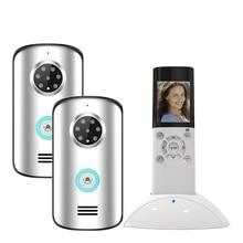 JERUAN 2 4G wireless remote control video door phone doorbell intercom system 2V1kit waterproof infrared night