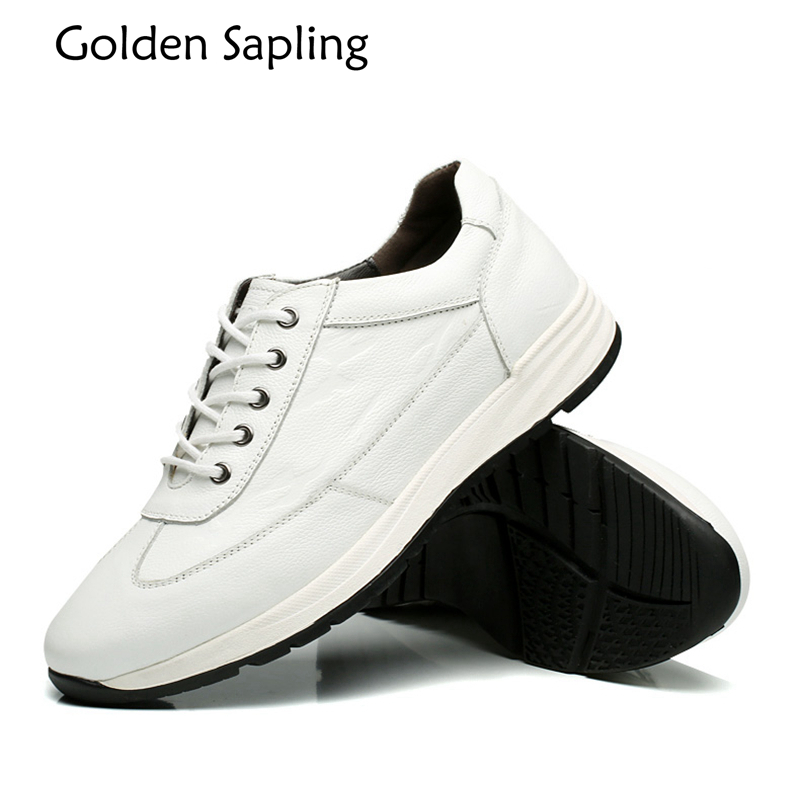 Golden Sapling Winter Man Sneakers Genuine Leather Men's Running Shoes Black White Blue Rubber Men Sport Shoes Men's Sneakers sapling