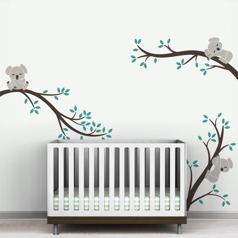 oversize koala ramas de los rboles diy tatuajes de pared extrable nursery etiqueta de la pared