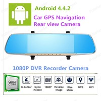Full HD 1080P Car Dvr CameraNovatek 7 Inch RearviewMirror Video Recorder With Dual Camera Registrar Camcorder
