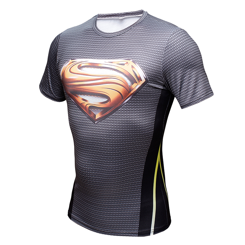 Neue 2016 Marvel Comic Superhelden Compression t-Shirt Tron Legacy Strumpfhosen Bodybuilding jogger Fitness t-shirt