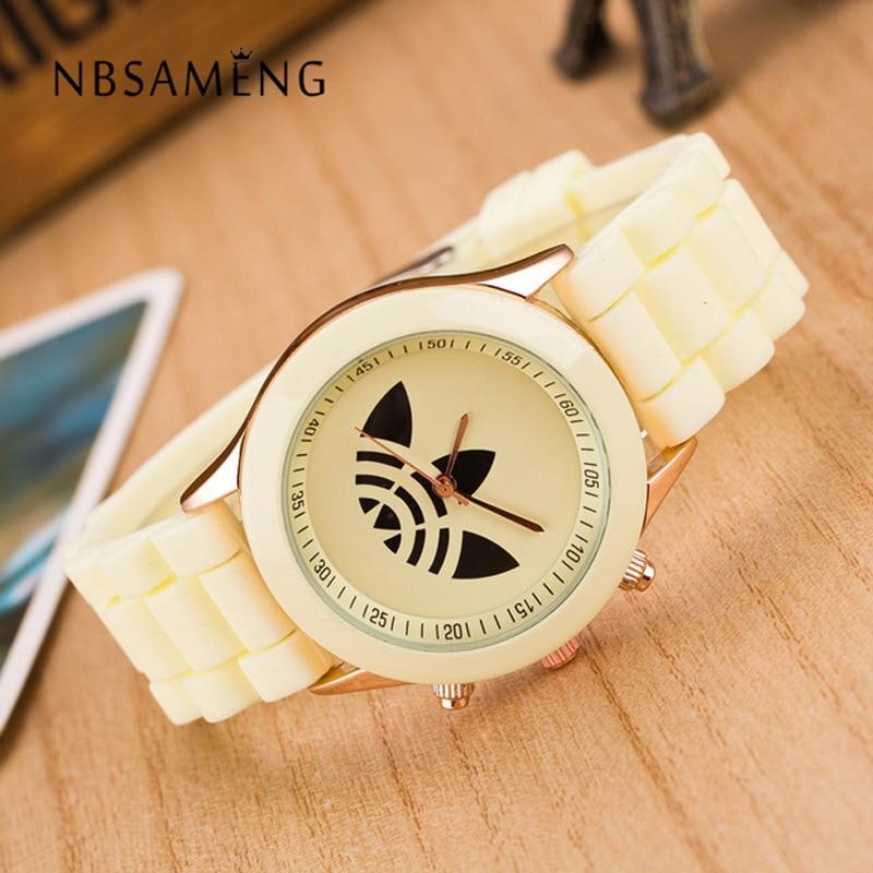 13 Farben Quarz Damen Kleid Uhren Weibliche Männer Sport-beiläufige Armbanduhr Silikonband Uhren 2017 Neue Stil uhren LZ011