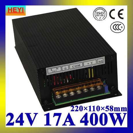 цены LED power supply  24V 17A 100~120V/200~240V AC input single output switching power supply 400W 24V transformer