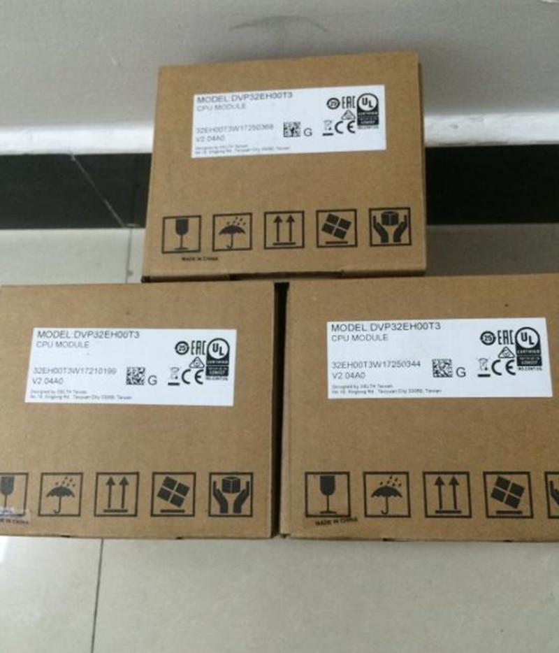 Original DVP32EH00T3 PLC EH2 EH3 series 100-240VAC 16DI 16DO Transistor output New in box dvp32ec00t3 new original delta plc ec3 series 100 240vac 16di 16do transistor output