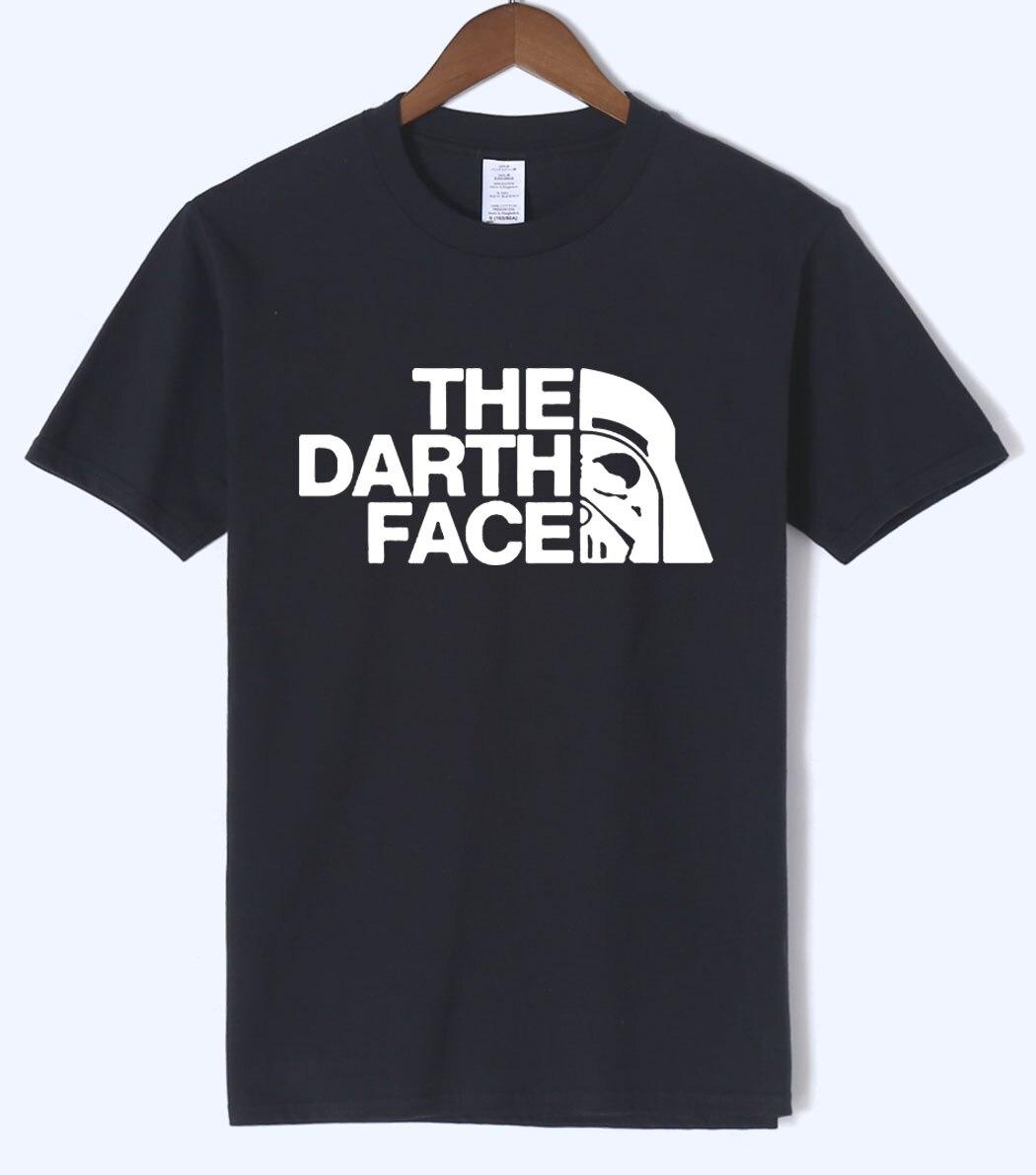 2018 DIE DARTH GESICHT muster männer T-shirts sommer kurzarm fitness T-shirt marke kleidung top tees undertale t hemd männer heißer