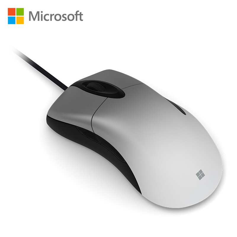 Microsoft Pro IntelliMouse mouse Silver with PixArt PAW3389PRO-MS 16000 DPI gaming mouse for PC mouse gamer overwatch PUBG DOTA2 image