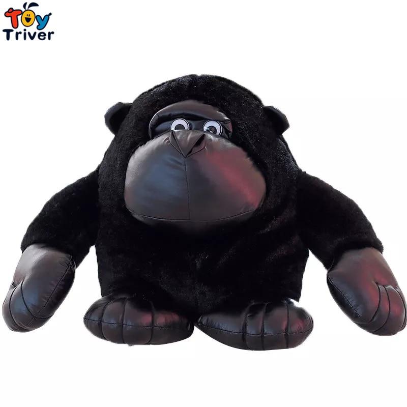 Plush Real Life Black Gorillas Chimpanzees Orangutan Monkey Toy Stuffed Doll Toys Kids Children Birthday Gift Home Shop Decor in Stuffed Plush Animals from Toys Hobbies