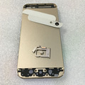 Para apple iphone 5g 5 5s reemplazo chasis volver caso cubierta de la contraportada con botones + bandeja sim cubierta de la alta calidad