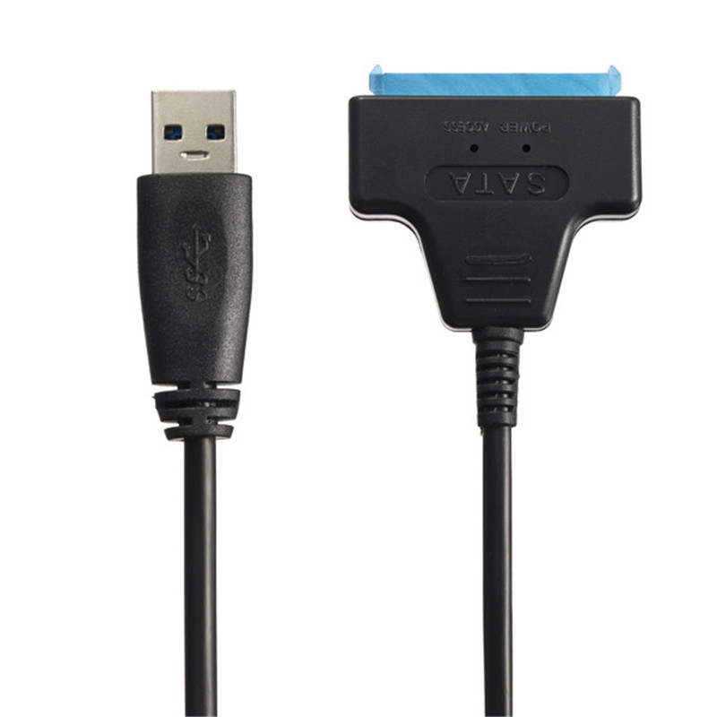 High Standard Black Plug and Play Portable High Speed USB 3.0 to SATA 22 Pin Adapter Cable for 2.5 SSD Hard Disk Drive New usb 3 0 to sata 22 pin adapter cable ssd case set black