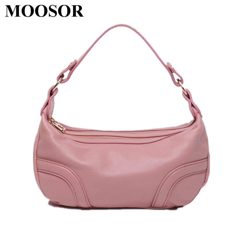 Фотография New Arrival Genuine Leather Women Bags Crossbody Bags High Quality 5 Colors Fashion Female Shoulder Bags Zipper Handbags HB09
